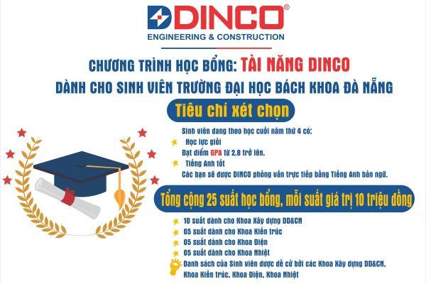 """(Tiếng Việt) """"Tài năng DINCO"""" – Chương trình học bổng dành cho sinh viên trường Đại học Bách Khoa Đà Nẵng"""