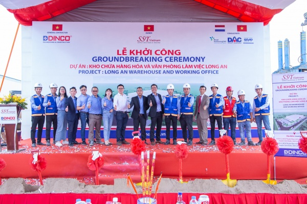 Dinco E&C commencing the project of warehouse and office in Long An