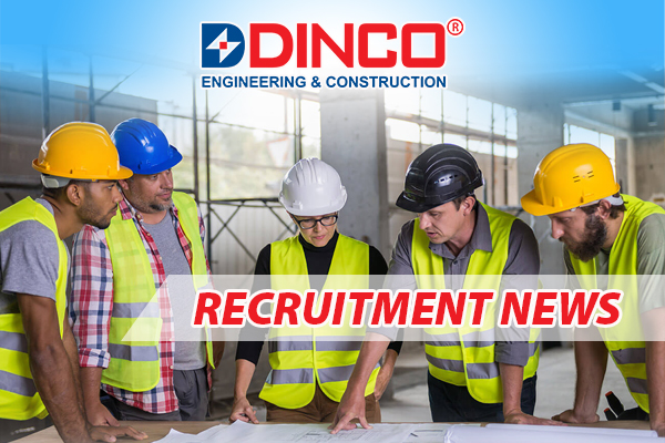 RECRUITMENT NEWS  POSITION: SITE QS ENGINEER – 5 PERSONS (MALE)